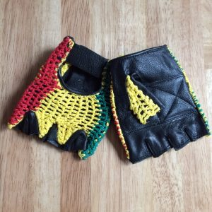 Rasta fingerless Gloves