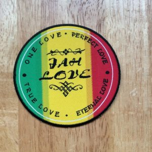 Jah Love Iron on Patch