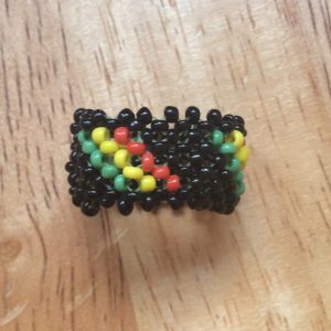 Hand crafted bead work ring
