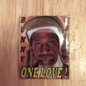Bunny Wailer handmade badge - One Love