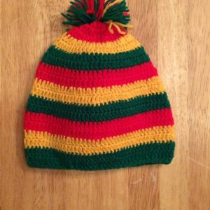 Knitted rasta baby hat - Style 2