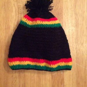 Knitted rasta baby hat - Style 3