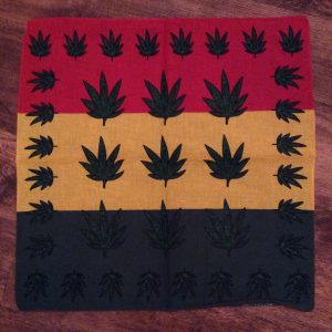 Bandana -broad rasta stripe with leaf