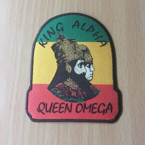 King Alpha and Queen Omega iron on patch