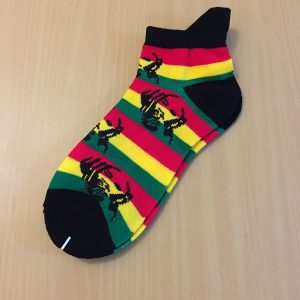 Bob Marley ankle socks - black
